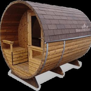 Barrel Sauna T27ET from Sauneco