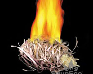 Fire balls to start fire from Sauneco
