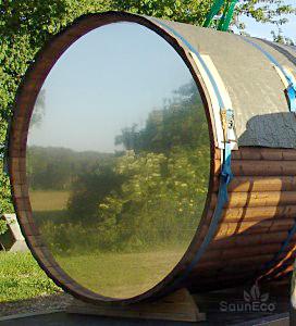 Panorama Sauna Transparent Glass Wall Terrace Log