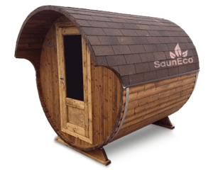 Wooden Barrel Sauna T20E from Sauneco