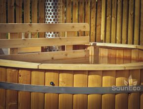 garden hot tub UK outdoor spa wooden hot tub bath barrel UK Sauneco