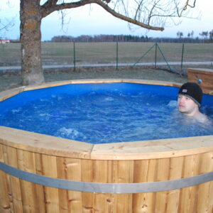 Wooden Hot Tubs With Bubble Jet System