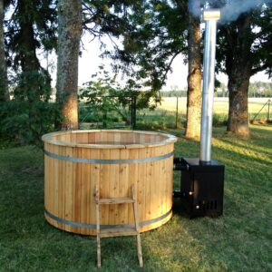 Wooden Hot Tubs With External Heater